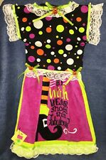 NEW Handmade Halloween Witch's Fabulous Shoes Oven Door Dress Kitchen Towel #758