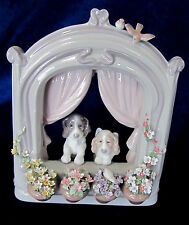 LLADRO #6502 PLEASE COME HOME! BRAND NIB DOGS WINDOW CUTE HOLIDAY SAVE$$ F/SH