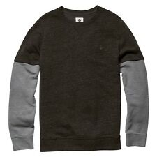 2016 NWT MENS ELEMENT COLEMAN SWEATER $50 M charcoal heather pullover fleece