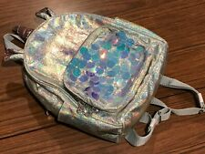 CLAIRES BACKPACK-UNICORN DESIGN-REVERSIBLE SEQUINS-GLITTER-BLUE COLOUR-GIRL LADY