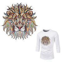 GI- DIY Lion Iron-on Heat Transfer Clothes Patches Stickers Applique Decor Candy
