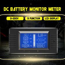 50100200300a Lcd Dc Battery Monitor Meter 0 200v Volt Amp Car Rv Solar System