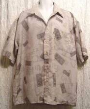 POSTAGE & BluePrints Gray ROCAWEAR Polyester Men's Casual Shirt! XL