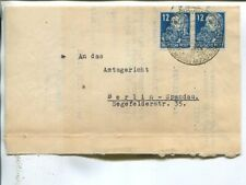 Germany SBZ 2x12pf on cover to Berlin-West 1950