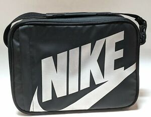 Nike Kids Lunch Tote School Lunch Box Black Insulated Hard Case Just Do It