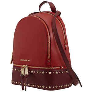 Michael Kors Ladies Rhea Zip Medium Backpack In Red 30F9GEZB6L-899