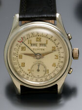 17 JEWEL AUTOMATIC STEEL CLINTON WATCH WITH DAY DATE CALENDAR CA1940S