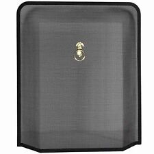 Fire Guard Black Brass Screen Protector Cover Fireplace Shield By Home Discount