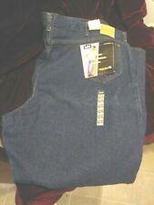 NWT Mens Big & Tall  Lee Jeans Regular Fit  Dark Wash 54 X 30 Made in USA