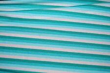 XXL Jersey Stoff türkis-blau-weiss gestreift Viskose Feinjersey Meterware   01059 9d67707e50