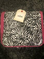 Vera Bradley Hanging Organizer Cosmetic Bag Abstract Daisy with Multiple Pockets