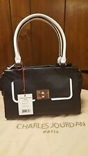 CHARLES JOURDAN PARIS leather LALA satchel in Black handbag