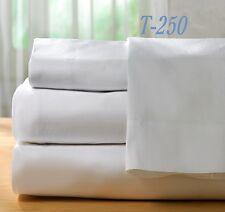 1 bright white premium pillow cases king 20x40 resort style series 250t