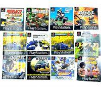 Playstation 1 PS1 Lot de 5 Jaquette et 8 Notices PAL FR