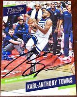 Karl-Anthony Towns #32 Minnesota Timberwolves NBA auto autograph basketball card