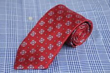 Joseph & Lyman Men's Tie Red White & Ice Dot Woven Silk Necktie 58 x 3.5 NEW