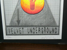 VELVET UNDERGROUND EUROPEAN TOUR 1993 MINI POSTER ART ALEX  COPY 205 / 600