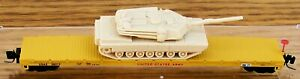Z SCALE~REL: 3-2010 MICRO-TRAINS MTL UNITED STATES ARMY w/ TANK LOAD  RD# 36013