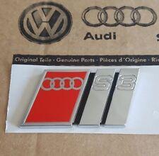 Audi A3 8L original S3 Logo Clip Schriftzug Emblem Aufkleber hinten Heckklappe