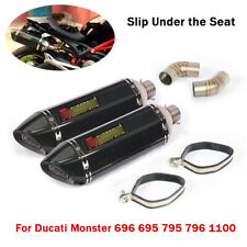 For Ducati Monster 696 695 795 796 1100 Exhaust Mid Link Pipe Muffler Tail Pipe