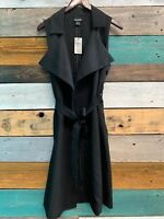 Buckle Swoon Belted Wrap Vest Black Size Small NWT