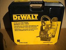 "DeWalt DWE1622K 2"" 2-Speed Magnetic Drill Press Kit 10 Amp NEW"