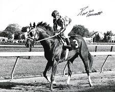 RON TURCOTTE SECRETARIAT - 1973 BELMONT STAKES SIGNED 8X10 TRIPLE CROWN #2
