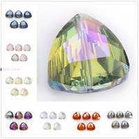 18mm Triangle Faceted Glass Crystal Loose Beads Spacer Jewelry Making bead 10Pcs