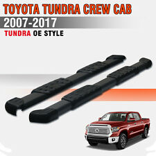 "For 07-18 Toyota Tundra Crew Max 5""Running Board Side Step Nerf Bar Aluminum BLK"