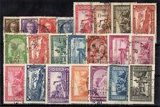 MONACO: SERIE COMPLETE DE 22 TIMBRES OBLIT N°115/134 Cote: 420,00 €