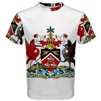 Coat of arms of Trinidad and Tobago Sublimated Men's Sport Mesh T-Shirt S-3XL