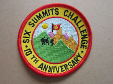 Six Summits Challenge Walking Hiking Cloth Patch Badge (L3K)