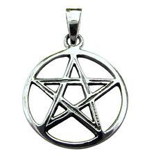 Sterling  Silver  (925)  Pentagram Star  ( 20 mm ) Pendant   !!     Brand New !!
