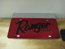 Ranger boats/ license plate/  Red & Black acrylic inlay