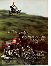 1969 HARLEY-DAVIDSON SPRINT SS350  ~  CLASSIC ORIGINAL PRINT AD