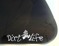 Dirt Life w ATV - funny off roading die cut decal/sticker