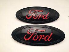 black ford logo. 201520162017 ford f150 black u0026 race red logo emblem set front rear ford logo