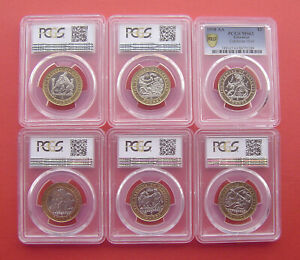 Gibraltar 1997-2000AA Labours of Hercules 2 Pounds Bi-metallic 12 Coins Set PCGS