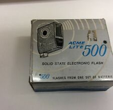 Vintage Acme Lite 500 Solid State Electronic Camera Flash 245A Excellent Cond