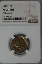 1925-S  .05  NGC  XF DETAILS CLEANED    Buffalo Nickel,  Indian Nickel,