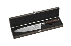 SABATIER International Brasserie Damast Chef-Messer Pakka-Wood Braun mit Holzbox