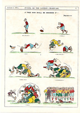 "RUGBY. "" A FREE KICK SHALL BE AWARDED IF--- "" 1921.VERY RARE."