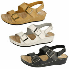 Block Patternless Sandals Casual Heels for Women