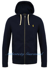 Mens Polo Ralph Lauren Hoodie Classic Fit Fleece Lining Various Colours Sizes Navy XL