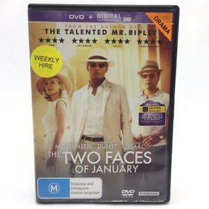 The Two Faces Of January (DVD-2018) PAL Region 4 With Oscar Issac Ex-Rental