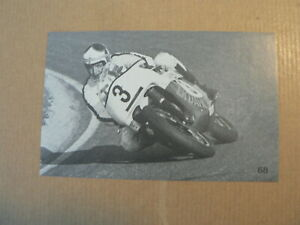 MOTORCYCLE PICTURE STAMP ALBUM CARD TRIUMPH TRIDENT 750CC FORMULA JEFFERIES TONY