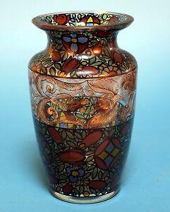 Farbige Vase, Glasfachschule Steinschönau, Böhmen um 1915