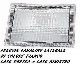 FANALINO FRECCIA FANALINO LATERALE DESTRO = SINISTRO 49087 SCANIA P R 2006 BIANC