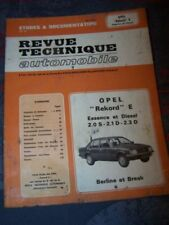 5Y - RTA Revue technique Opel Rekord E Essence et diesel 2.0S 2.1D 2.3D