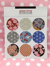 2 Hojas Redondo Japonés Flor Patrón Pegatina Scrapbooking tarjeta diario Craft